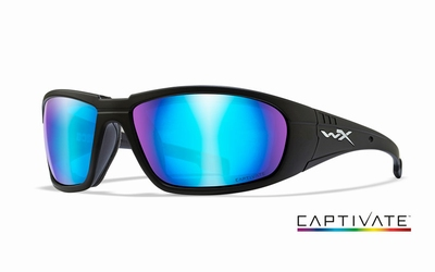 WileyX zonnebril - BOSS Captivate Blue Mirror, mat zwart fr.