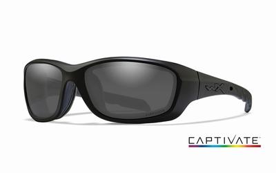 WileyX zonnebril - GRAVITY Captivate Smoke Grey, mat zw fr.