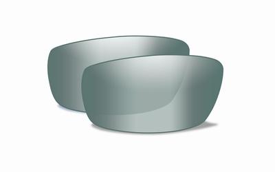 WileyX OMEGA pol. smoke green glazen met platinum mirror