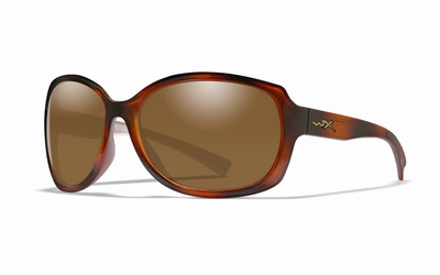 WileyX zonnebril - MYSTIQUE, brown / Gloss demi frame