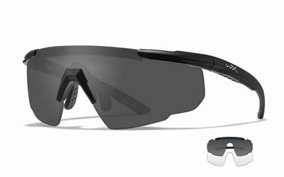 WileyX Schietbril - SABER ADVANCED, grey-clear / mat zw frm