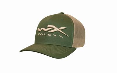WX Snapback Cap One Size, green en tan