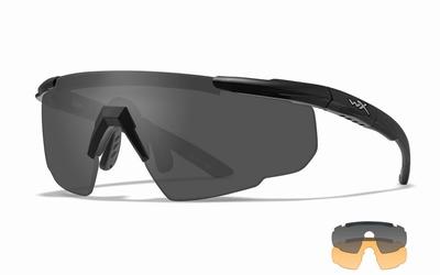 WileyX Schietbril - SABER ADVANCED, grey-rust / mat zw frm