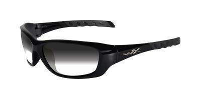WileyX zonnebril - GRAVITY meekleurend / glans zwart frame