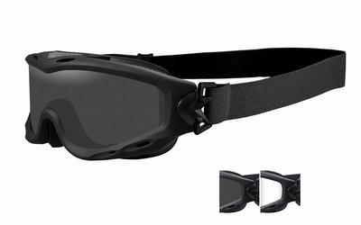 WileyX zonnebril - SPEAR, grey en clear lenzen, mat zwart fr