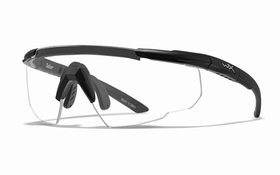 WileyX Schietbril - SABER ADVANCED, clear / mat zwart frame