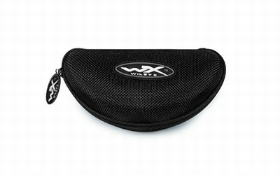 WileyX Zwarte Case (brillenkoker) (zwart/grijs logo)