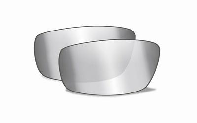Smoke Grey , silver flash glazen voor de P-17 - LAASTE