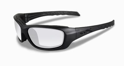 WileyX zonnebril - GRAVITY, heldere glazen / mat zw. frame