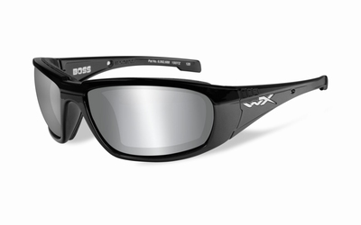 WileyX zonnebril - BOSS, grey silver / gloss black frame
