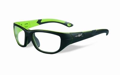 Wiley X stevige kinder sportbril - VICTORY, zwart/groen