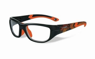 Wiley X stevige kinder sportbril - VICTORY, zwart/oranje