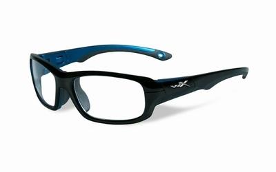 Wiley X stevige kinder sportbril - GAMER, zwart/blauw