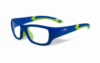 Wiley X stevige kinder sportbril - FLASH, blauw/groen