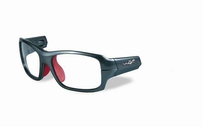 Wiley X los frame voor de FIERCE, donker zilver/rood