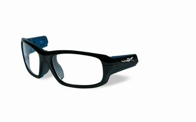 Wiley X los frame voor de GAMER, glanzend zwart/blauw