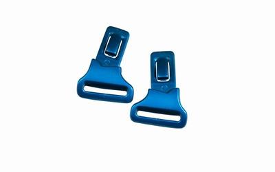 Wiley X losse clips voor de GAMER, glanzend zwart/blauw