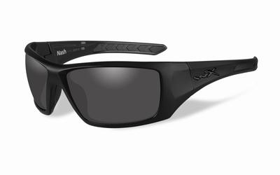 WileyX zonnebril - NASH, pol. smoke grey glas / mat zw. frm.