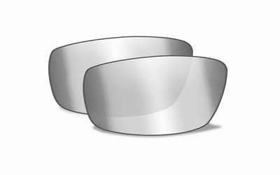WileyX BOSS smoke grey,silver flash mirror glazen