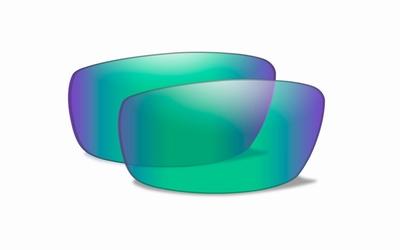 WileyX Extra lenzen OMEGA Polarized Emerald Mirror glazen
