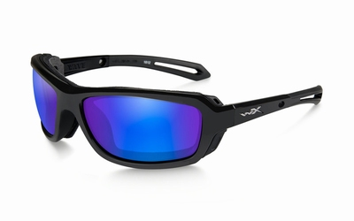 WileyX zonnebril - WAVE pol. blue mirror / gloss black frame