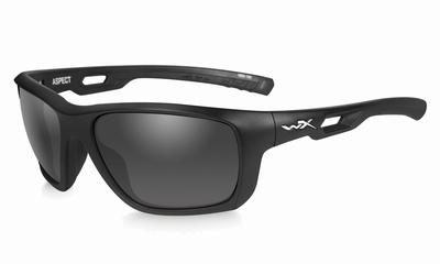 WileyX zonnebril - ASPECT, smoke grey / mat zwart frame