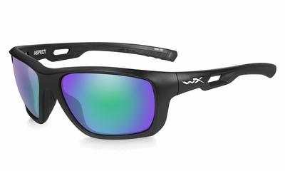 WileyX zonnebril - ASPECT, pol. emerald amber / mat zwart