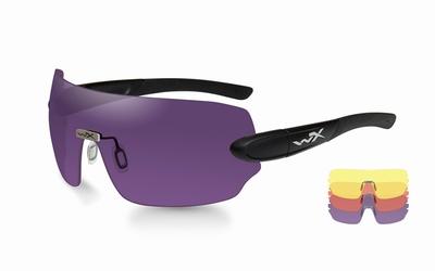 WileyX schietbril - DETECTION, yellow-orange-purple/mat blk