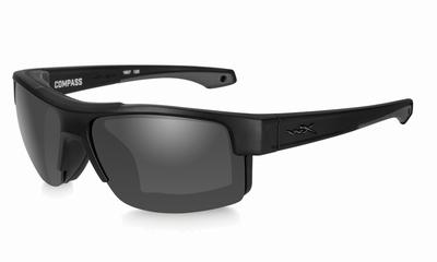 WileyX zonnebril - COMPASS smoke grey / mat zwart frame