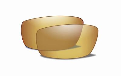 WileyX COMPASS gepolariseerd amber glazen met gold mirror