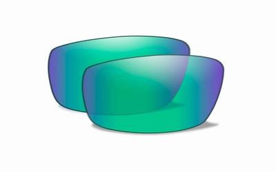Polarised emerald mirror glazen voor de VALLUS