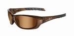 WileyX zonnebril - GRAVITY, bronze flash glazen / bruin frm