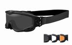 WileyX zonnebril - SPEAR, grijs, clear, oranje / mat zw. fr.