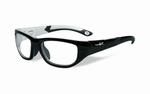 Wiley X stevige kinder sportbril - VICTORY, zwart/aluminum