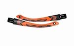 Wiley X losse set VICTORY brillenpootjes, mat zwart/oranje
