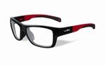 Wiley X stevige kinder sportbril - CRUSH, zwart/rood
