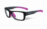 Wiley X stevige kinder sportbril - CRUSH, mat grijs/roze