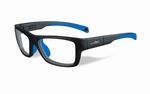 Wiley X stevige kinder sportbril - CRUSH, mat grijs/blauw