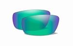 WileyX COMPASS pol. amber glas met emerald mirror coating